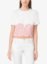 Michael Kors Embellished Cropped Denim Top