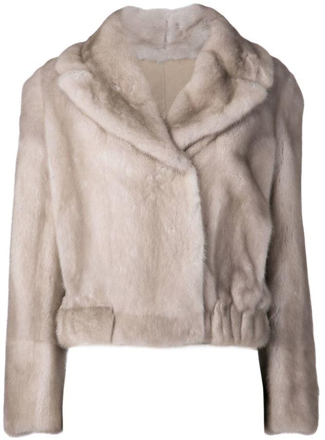 Brunello Cucinelli fur cropped coat