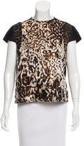 Lanvin Leopard Print Short Sleeve Top