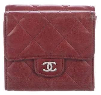 Chanel Quilted Lambskin Compact Wallet