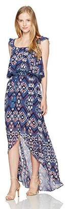 My Michelle Women's Pop Over Maxi Dress
