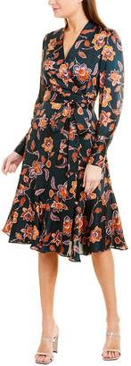 BCBGMAXAZRIA Floral Midi Dress