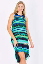 NEW Very Very Womens Knee Length Dresses Lianne Hi-Low Dress GreenStri
