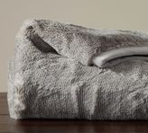 Pottery Barn Quail Faux Fur Throw - Gray