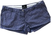 Maison Scotch Blue Cotton Shorts for Women