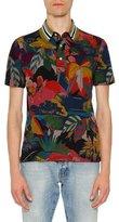 Valentino Tropical-Print Polo Shirt, Multicolor
