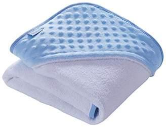 Clair De Lune Plush Dimple Hooded Baby Towel - Blue