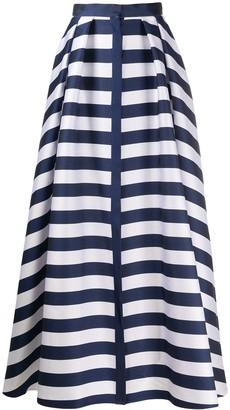 Maison Rabih Kayrouz Striped High-Waisted Skirt