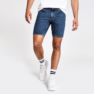 River Island Mens Blue Dylan slim fit denim shorts
