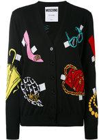 Moschino multi-pattern V-neck cardigan - women - Cotton - 44