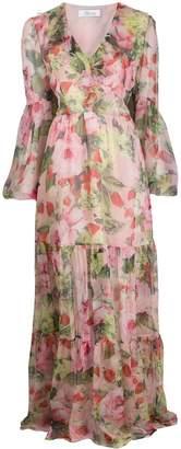 Blumarine floral print silk maxi dress