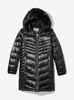 MICHAEL Michael Kors Faux Fur Quilted Puffer Coat