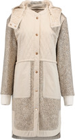 See by Chloe Quilted cotton and wool-blend bouclé hooded coat