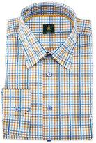 Robert Talbott Plaid Woven Dress Shirt, Teal