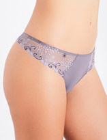 Simone Perele Délice embroidered stretch-tulle thong