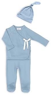 Tun Tun Boys' Kimono Rib Knit Top, Footed Pants & Hat Set - Baby