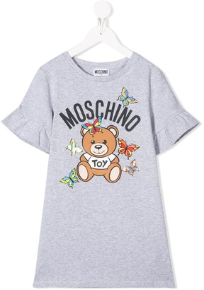 MOSCHINO BAMBINO graphic-print T-shirt dress