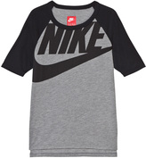 Nike Grey and Black Branded 3/4 Sleeve Tee