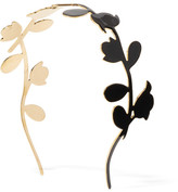 Marni Enameled Gold-tone Headband - Black