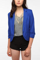 Sparkle & Fade Cropped Ruched Sleeve Blazer