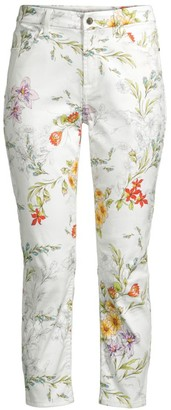 JEN7 by 7 For All Mankind Floral Skinny Cropped Jeans
