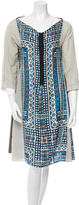 Hache Printed Silk Dress