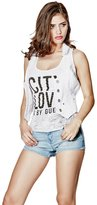G by Guess GUESS Factory Sherri Knit Denim Vest