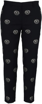 Burberry Cropped Wool Tailored Trousers