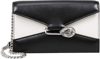 Alexander McQueen Colorblock Leather Envelope Clutch