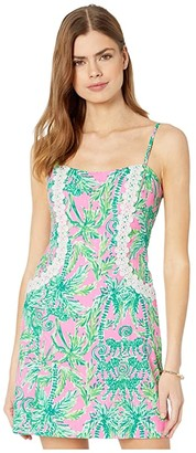 Lilly Pulitzer Shelli Stretch Dress (Prosecco Pink Hangin Around) Women's Dress