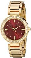 Kenneth Jay Lane Women's KJLANE-2609 Glitz Gold-Tone Crystal-Accented Bracelet Watch