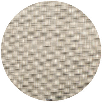 Chilewich Mini Basketweave Round Placemat - Linen