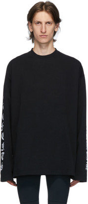 Vetements Black Gothic Font Long Sleeve T-Shirt