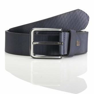 LINDENMANN men's leather belt/men's belt full grain leather navy Groe/Size:100