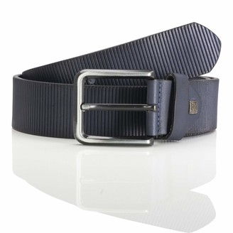 LINDENMANN men's leather belt/men's belt full grain leather navy Groe/Size:120