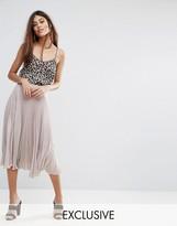 Warehouse Lame Pleated Skirt