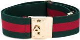 Gucci padlock web belt - women - Polyester/Spandex/Elastane - 75