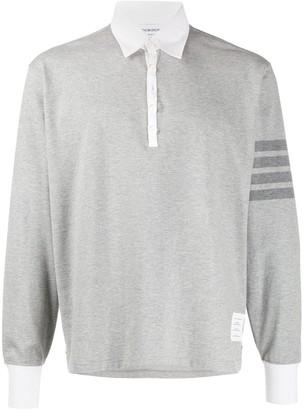 Thom Browne 4-Bar rugby polo shirt