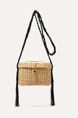 Nannacay Kiki Woven Raffia And Macrame Shoulder Bag - Beige