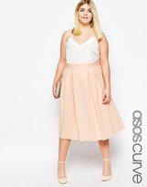 Asos Midi Prom Skirt with Box Pleats