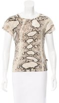 Just Cavalli Snakeskin Round Neck Top