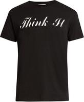Saint Laurent Think It-print cotton-jersey T-shirt