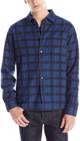 RVCA Men's Torched Long Sleeve Woven Shirt