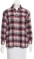 Current/Elliott Long Sleeve Plaid Top