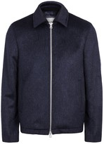 Our Legacy Coach Navy Textured Wool Blend Jacket