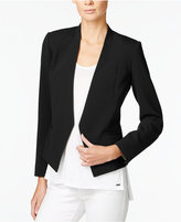 Armani Exchange Collarless Open-Front Blazer