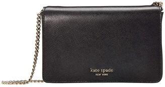 Kate Spade Spencer Chain Wallet (Black) Handbags