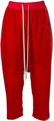 Rick Owens Cropped Track Pants