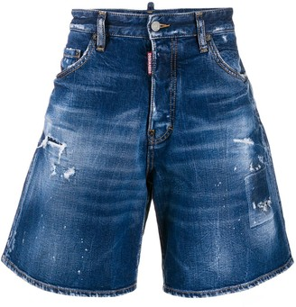 DSQUARED2 Distressed Denim Shorts