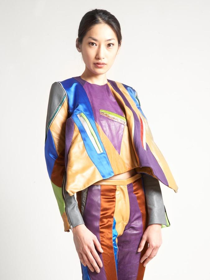 Martina Spetlova Women's Patchwork Leather Jacket